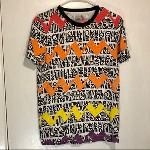 3/$10 ASOS xs funky tee zig zag T-shirt